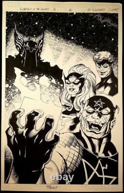 GUARDIANS OF THE GALAXY #19 Page 21 Original Published Art Splash Ed Mcguinness