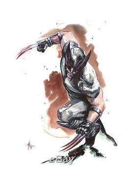 Gabriele Dell Òtto Wolverine full body color Commission original art signed