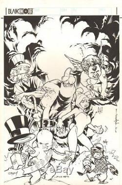 Gaijin Studios Christmas Card Jam Piece'99 art by Adam Hughes, Brian Stelfreeze