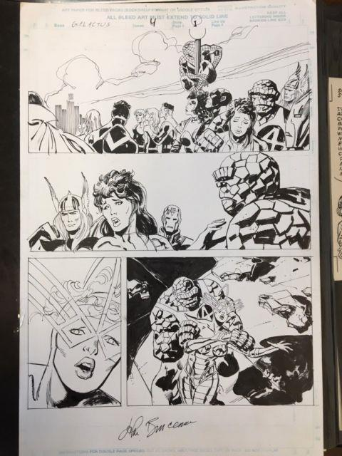 Galactus The Devourer #4 P. 1 Original Art John Buscema Bill Sienkiewicz! Signed