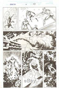 Galactus the Devourer #6 p. 23 The Silver Surfer vs. Robots 2000 John Buscema