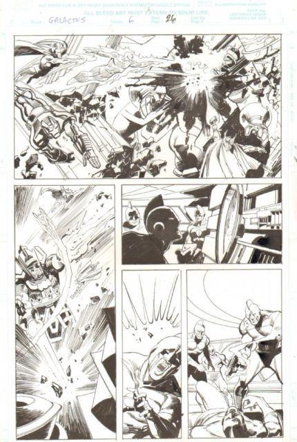 Galactus The Devourer #6 P. 26 Iron Man, Human Torch, Thor 2000 John Buscema