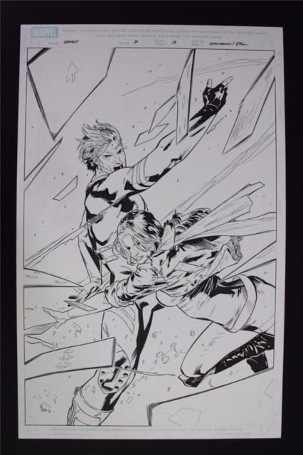 Gambit #11 Splash Page 13 (original Art) Clay Mann/seth Mann Marvel 2013