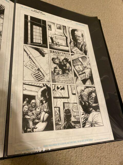 Gary Frank Doomsday Clock Original Comic Art #11 P2 Watchman Batman Nice