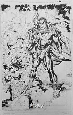 Gary Frank JLA #21, Shazam page 26. Black Adam