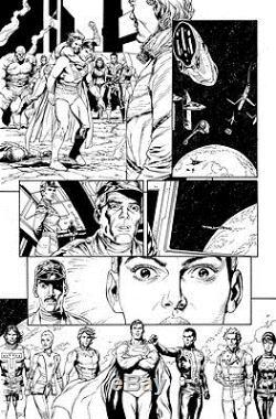 Gary Frank & Jon Sibal Superman Legion of Superheroes Original Comic Art 863 p17