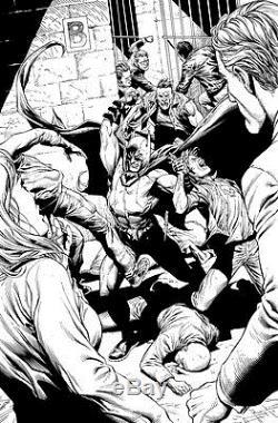 Gary Frank & Jonathan Sibal Batman Earth One Original Comic Art p129