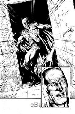 Gary Frank & Jonathan Sibal Batman Earth One Original Comic Art p81