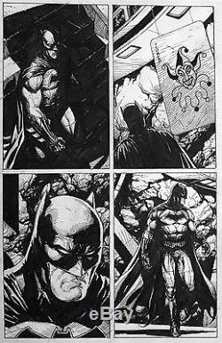 Gary Frank Rebirth Original Comic Art #1 p50. Batman, Flash, Superman, JLA