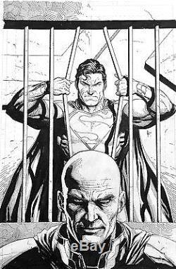 Gary Frank Superman Action Comics Cover Original Comic Art #970