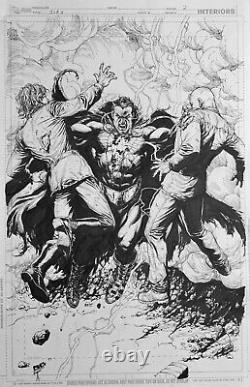 Gary Frank original comic art JLA #11, Shazam page 2. Black Adam DC Comics