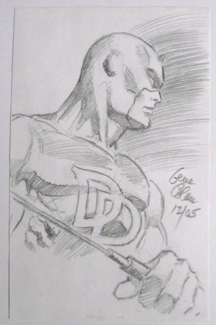 Gene Colan Original Daredevil Pencil Art Sketch Very Cool