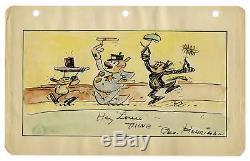 George Herriman Original Color Krazy Kat Comic Drawing