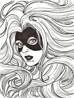 George Perez Signed 2021 Medusa Original Art-inhumans! Free Shipping
