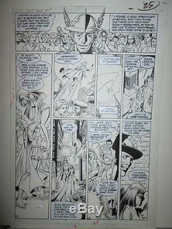 George Perez WONDER WOMAN 23 Page 19 Hermes Diana Prince DC COMICS LINE ART 1988