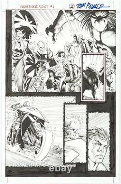 Ghost Rider Addict #1 p. 2 Javier Saltares Marvel Comics Original Comic Art