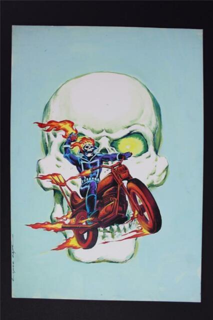Ghost Rider (spanish Edition) #4 Painted Cover (original Art) Lopez Espi 1981