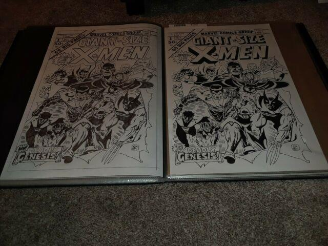 Giant-size X-men 1 Cover Recreation X2 11x17 Drawn! 1 Pencil 1 Inked! Cockrum