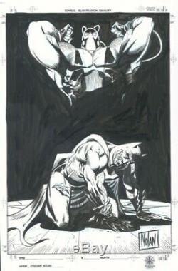 Graham Nolan Batman and Bane. 11x17 original art