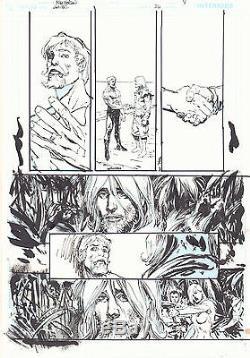 Green Arrow / Black Canary #26 p. 8 2010 ink art only by Bill Sienkiewicz