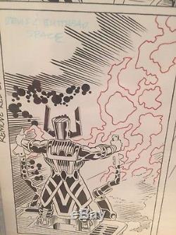 Grinderson Anderson Galactus Splash Page Original Comic Art Pg Beavis Butthead