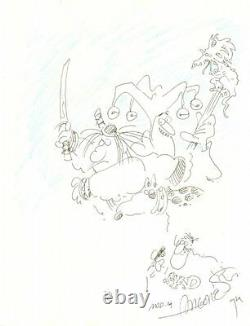 Groo the Wanderer with Self Portrait 1995 Signed art by Sergio Aragones