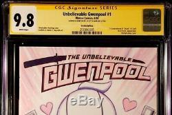 Gwenpool #1 Cgc Ss 9.8 Original Art Sketch Spider-man Gwen Ghost Venom Carnage