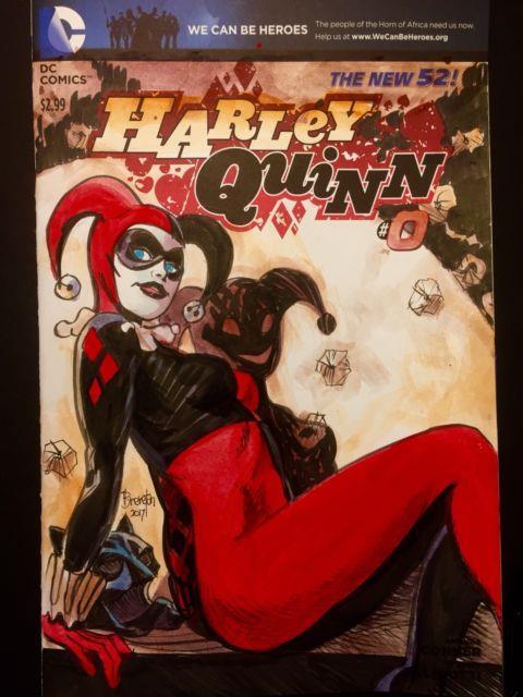 Harley Quinn Painted By Dan Brereton Comic Sketch Cover Original Art