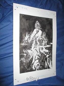 HELLBOY IN HELL #1 Original Splash Art Page #6 by Mike Mignola