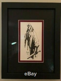 HELLBOY Original Art Inked Sketch by Mike Mignola