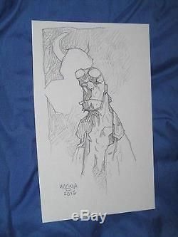 HELLBOY Original Art Sketch by Mike Mignola (BPRD / MOVIE)