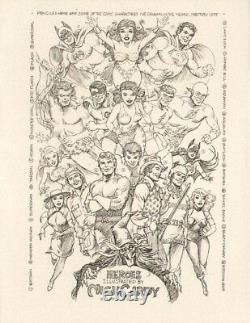 HEROES ILLUSTRATED Cover NICK CARDY Original Artwork Batman Superman Teen Titans
