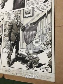 HOWARD the DUCK Magazine #5 original comic art page #53, Bob McLeod /Gene Colan