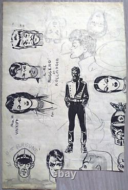 HUGO PRATT Dessin original / croquis PERIODE ARGENTINE (1949-1962)