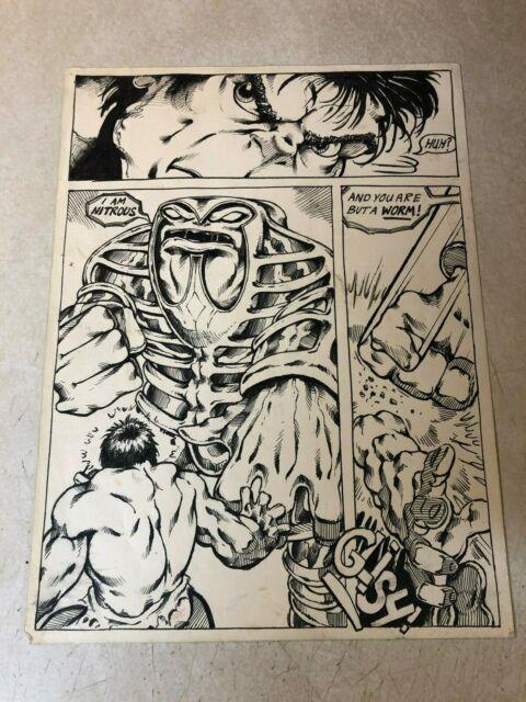 Hulk Dale Keown Original Art Rare Early Work Nitrous You Are A Worm
