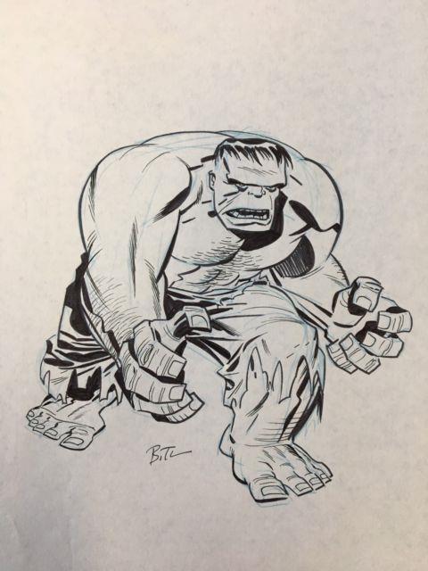 Hulk Original Art By Bruce Timm! Signed
