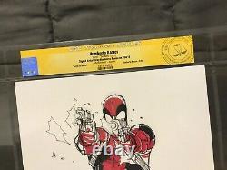 HUMBERTO RAMOS Original Art DEADPOOL CGC SS Sketch Signed xmen xforce spiderman