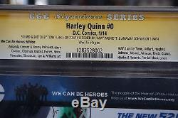 Harley Quinn #0 Original Art Sketch CGC 9.6 3x SS WP White DC Comics Poison Ivy