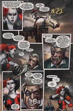 Harley Quinn Original Art-signed Stephane Roux, Amanda Conner-free Shipping