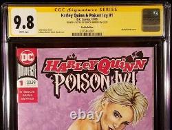 Harley Quinn Poison Ivy #1 Cgc Ss 9.8 Original Art Sketch Batman Joker Catwoman