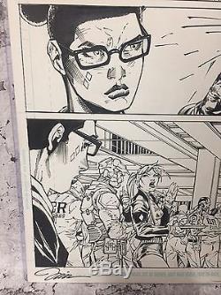 Harley Quinn Suicide Squad 5 Pg 9 Jim Lee Original Artwork Signed Art Page
