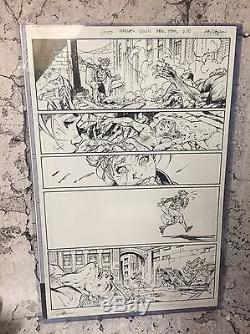 Harley Quinn Suicide Squad April Fools 1 Pg 10 Jim Lee Original Artwork Page Art