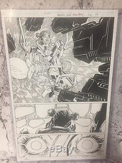 Harley Quinn Suicide Squad April Fools Pg 29 Jim Lee Original Artwork Signed P