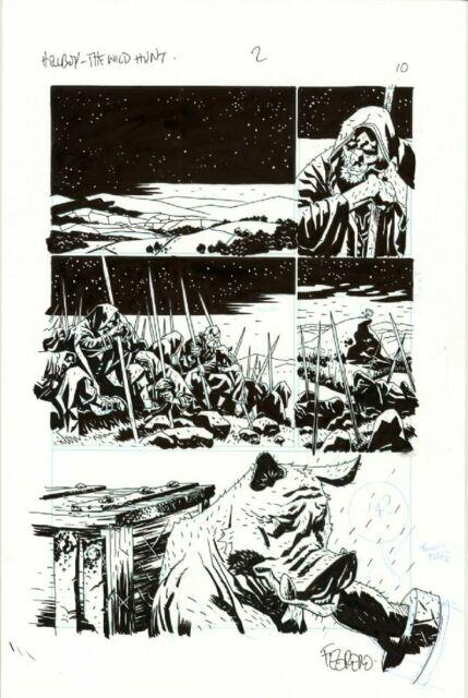 Hellboy Duncan Fegredo Original Comic Art Wild Hunt 2 Pg 10