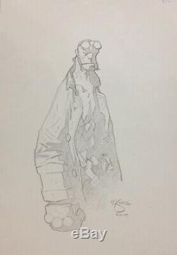 Hellboy Sketch By Mike Mignola