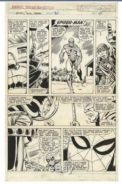 Herb Trimpe Marvel Treasury 25 Original Artwork Page Art Page Pg 45 Spiderman