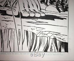 Herb Trimpe Original Comic Art Sketch Hulk vs Wolverine 11X17 Marvel Comics