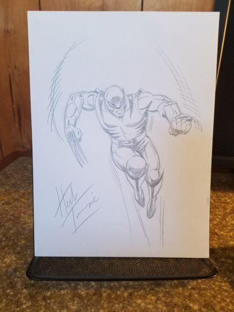 Herb Trimpe Original Art! Full Figure Pencil Sketch Of Wolverine On 9×12. Signed
