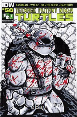 Hero Initiative Teenage Mutant Ninja Turtles 100 Project cover DAN BERGER