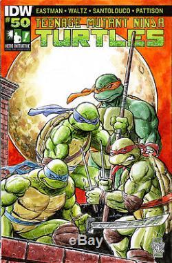Hero Initiative Teenage Mutant Ninja Turtles 100 Project cover TONE RODRIGUEZ